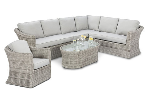 Oxford Large Corner Sofa Set with Additional Armchair