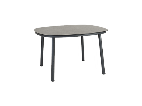 Cordial Grey Dining Table Pebble HPL Top 1.2m x 1.2m