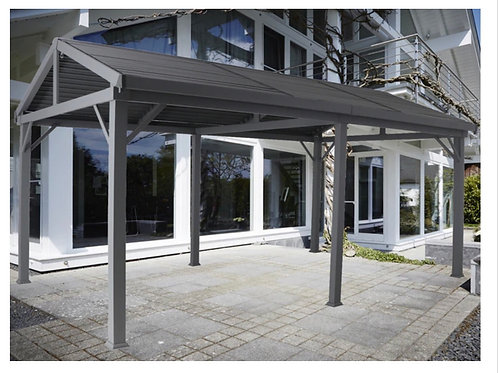 Knightsbridge  5.3 x 3.2  Apex Vented Roof Covid Safety Gazebo