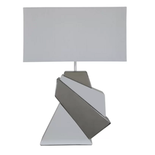 White and Silver Ceramic Lamp