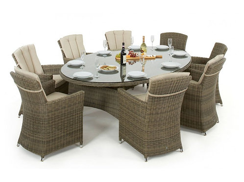 WINCHESTER OVAL TABLE  WITH 8 CARVER CHAIRS
