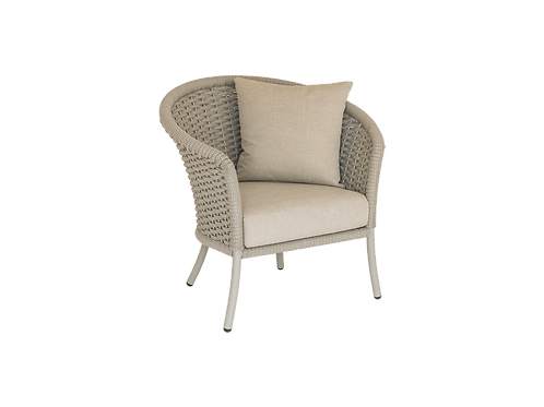 Cordial Beige Rope Dining Armchair with cushion