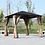 Thumbnail: Knightsbridge 3x3 Galvanised Roof Gazebo with side Nets + Curtains