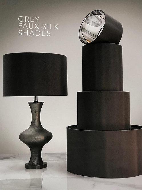 Grey Faux Silk Shades