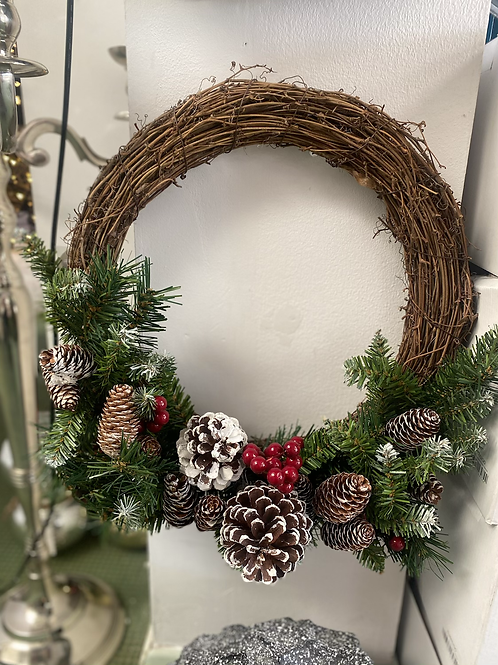 "16"" grapevine wreath"