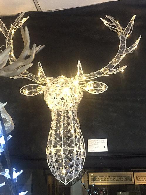 Jewelled Stag Head Warm White LED's
