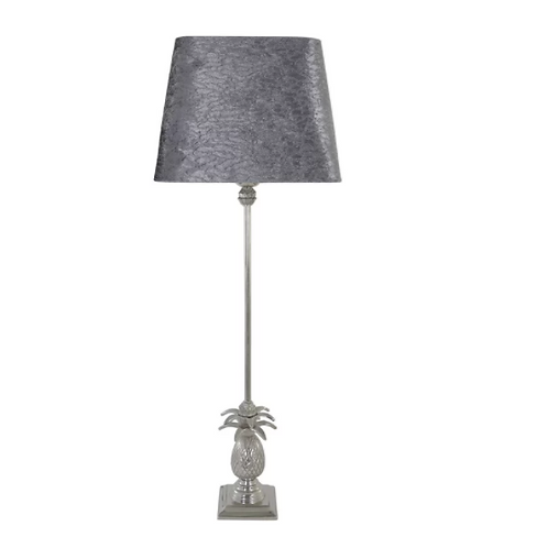 Brass Pineapple Lamp 69cm& Taupe Stone Effect Shade