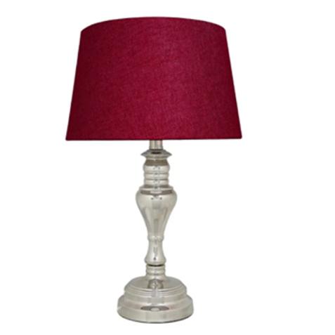 Cast Chrome Table  Lamp 57cm