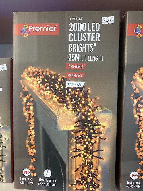 2000 cluster lights vintage gold