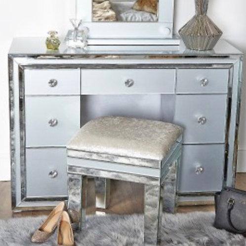 Grey Manhattan 7 Drawer Dressing Table