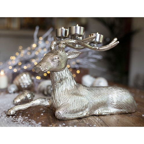 Resting Stag Tea Light Holder