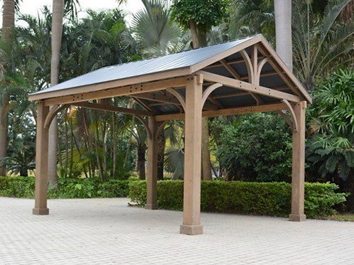 14ft x 12ft Cedar pergola/Gazebo hard top gazebo