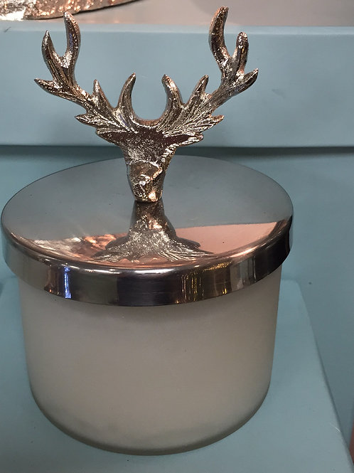 Stag Head Candle Pot