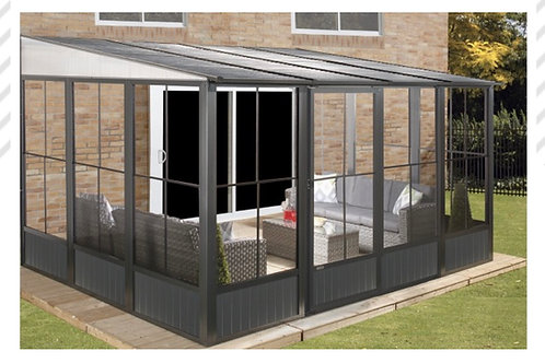 Knightsbridge Deluxe 3x3.9 Enclosed Wall Canopy with Galvanized Roof and Sides