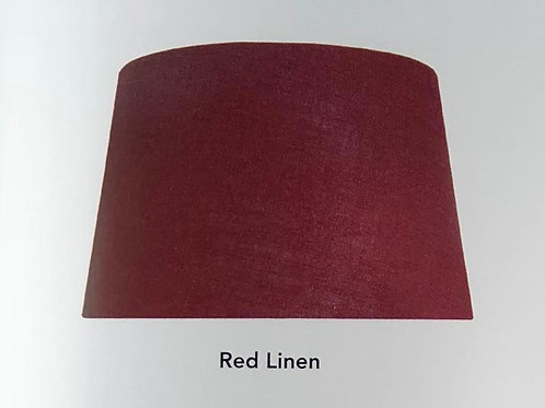 Red Linen Shade