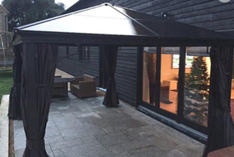 3x4 3 deluxe polycarbonate roof gazebo hot tub canopy meredew on stores
