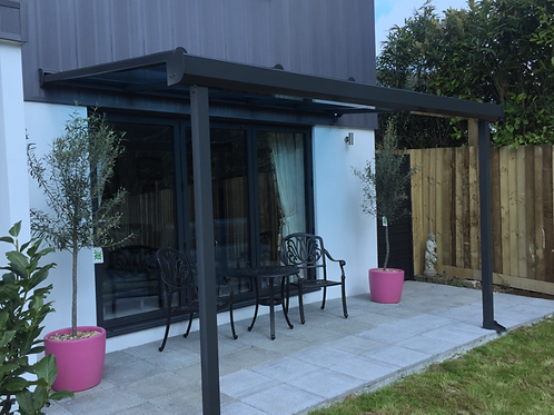 Glass Roof Wall Mounted Modern Style Veranda (variable option)