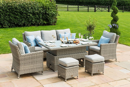 Oxford Venice Sofa Dining Set  Rising Table with Ice Bucket