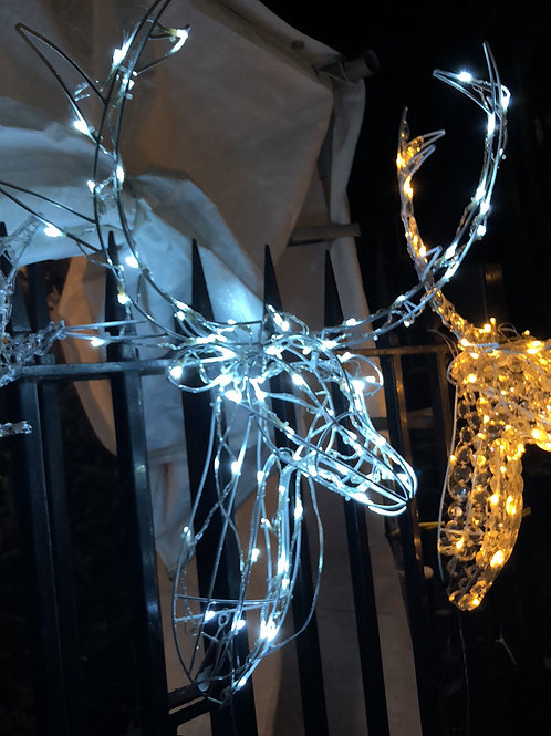 85cm Wire Frame Stag Head