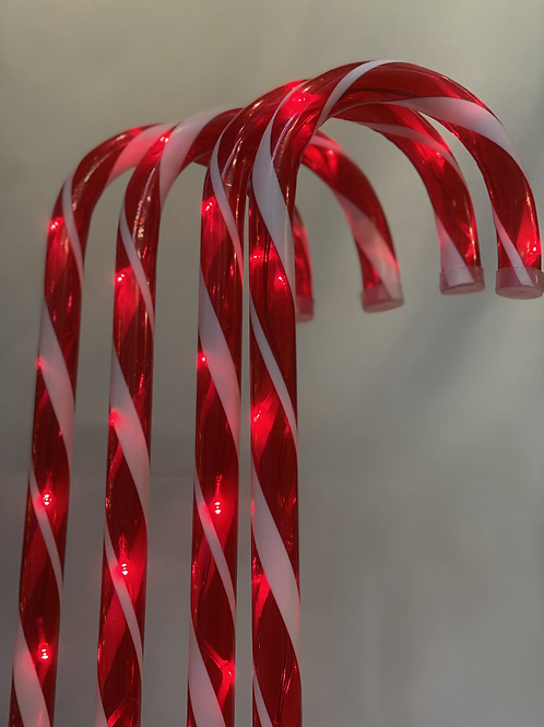 Candy cane red path lights