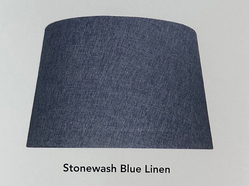Stonewash Blue Linen Shade