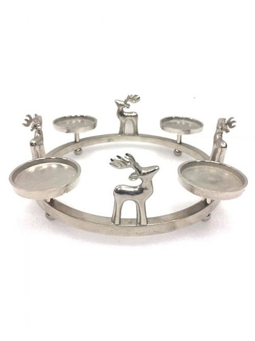 Silver Stag Candle Wreath