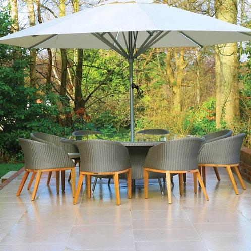 Valencia & Grace Oval Sets 200 x 145cm 2.5mm Round Weave/Sunbrella  Various Colo