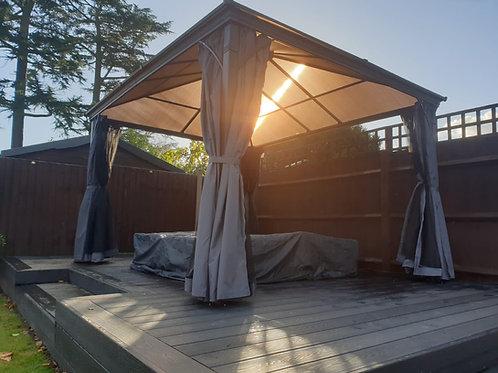 3m x 4m Starlight  Economy Permanent Solid Roof Gazebo