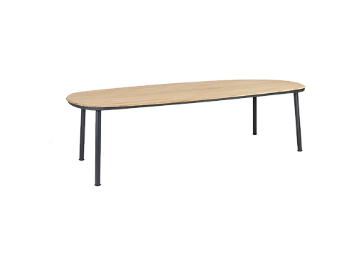 Cordial Grey Dining Table Roble Top 2.7m x 1.2m