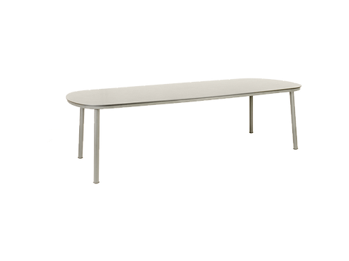 Cordial Beige Dining Table Sand HPL Top 2.7m x 1.2m
