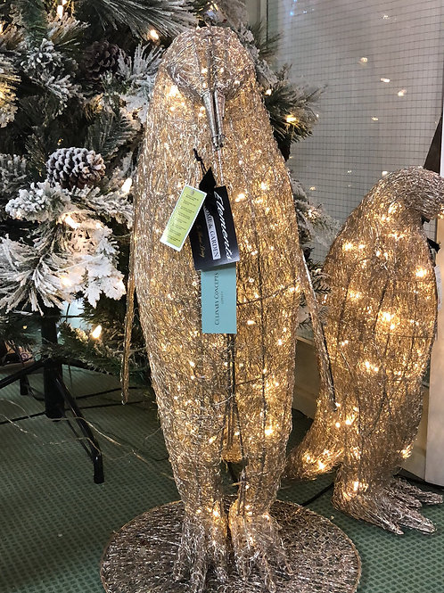 Large Nickel Wired Penguin