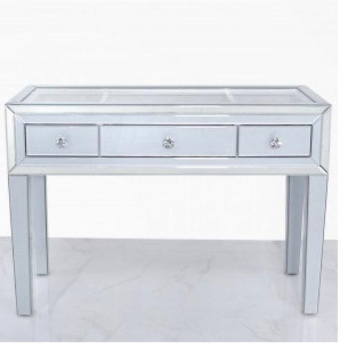 Grey Manhattan Mirror 3 Drawer Dressing Table