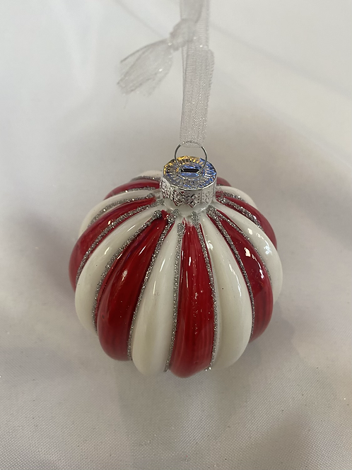 Candycane stripe ball