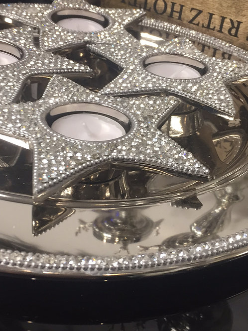 Jewelled Round Tray