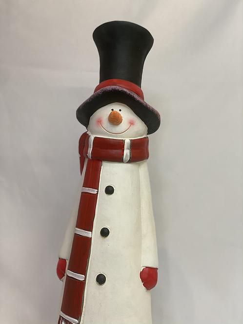 Resin snowman statue