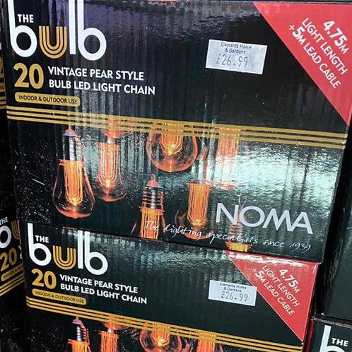 Noma 20 Vintage LED bulb Chain