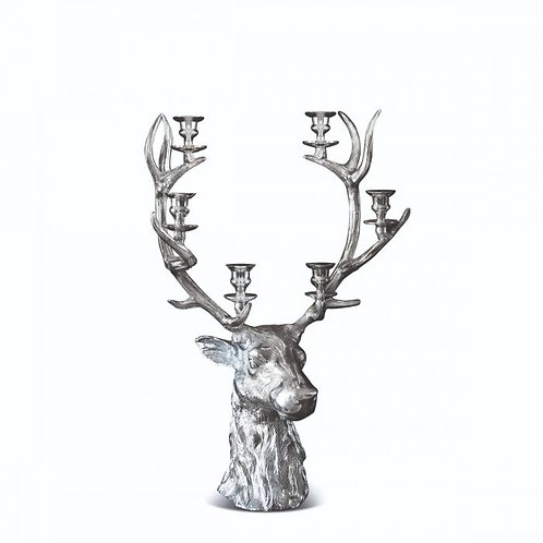Stag Head Six Candle Holder