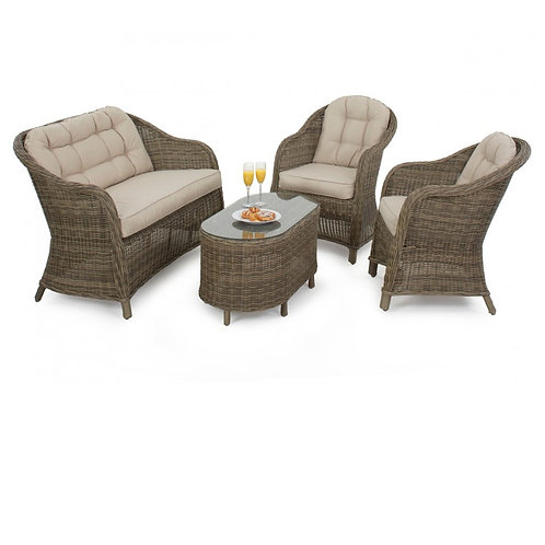 Winchester Round High Back Sofa Set
