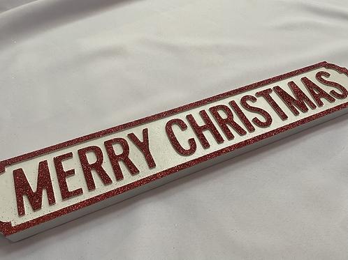 Merry Christmas roadsign