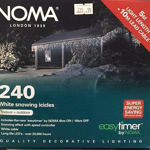 Noma 240 white Led snowing icicle lights