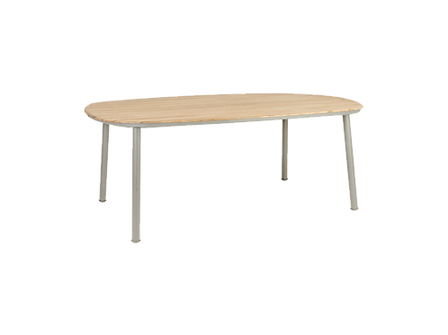 Cordial Beige Dining Table Roble Top 2.0m x 1.2m