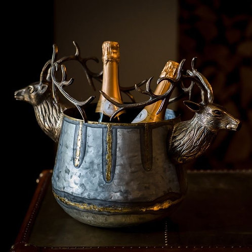 Stag Dual Silver & Gold Ice Bucket