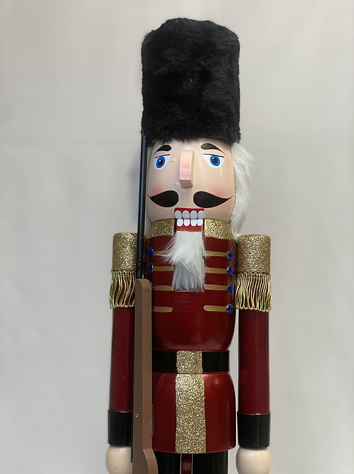 Medium dark red harrods nutcracker