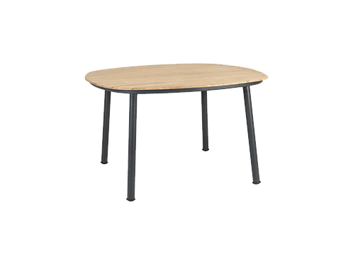 Cordial Grey Dining Table Roble Top 1.2m x 1.2m