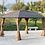 Thumbnail: Lorenzo Brown 3 x 4m Galvanized Steel Roof Permanent Gazebo-Brown