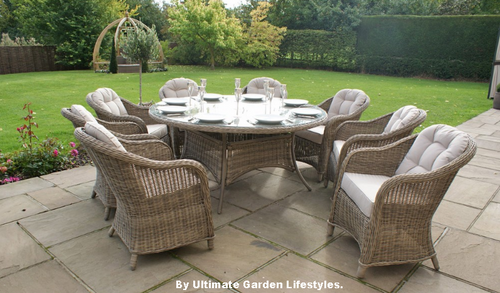Amazing Winchester 180Cm Round Dinig Table With 8 Rounded Back Chairs Uwap Interior Chair Design Uwaporg