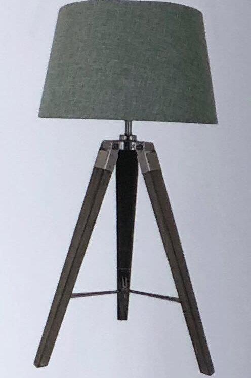 Small Grey Tripod Lamp & Coloured Linen Shades