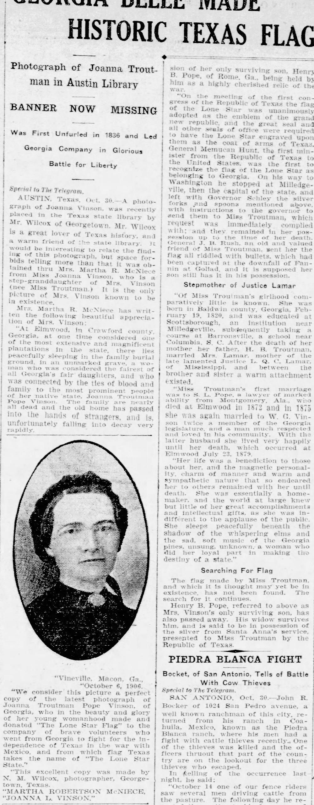 Oct. 30, 1906   Fort Worth Telegram
