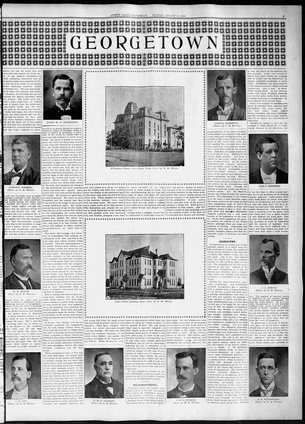 Aug. 13, 1899   Austin American Statesman
