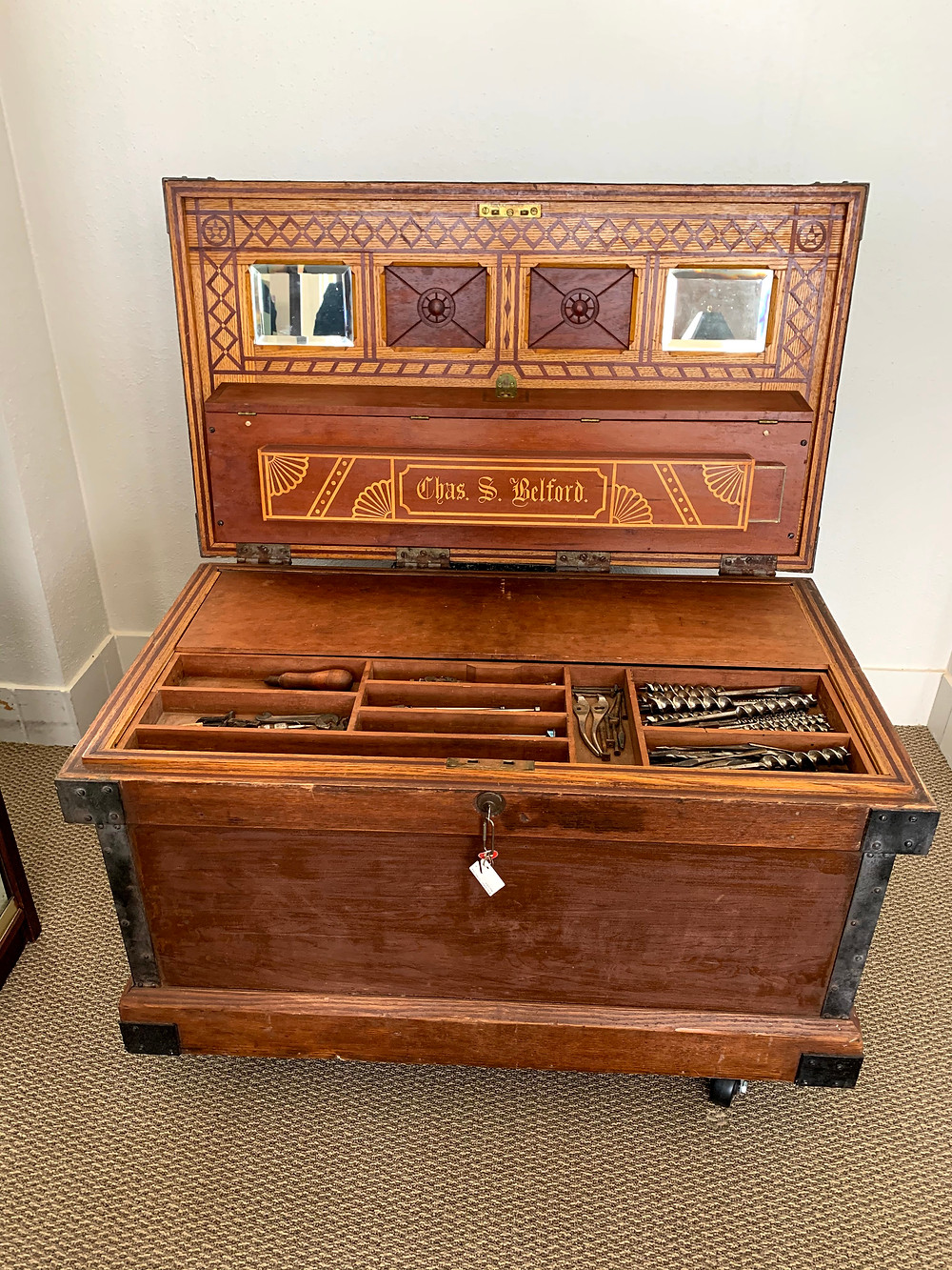 Belford's Tool Chest | Image Courtesy Southwestern University Special Collections and Archives